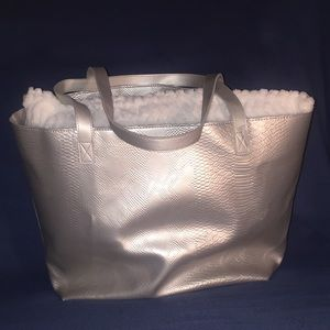 Bath & Body Works metallic bag.